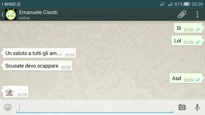 doppia spunta WhatsApp AW