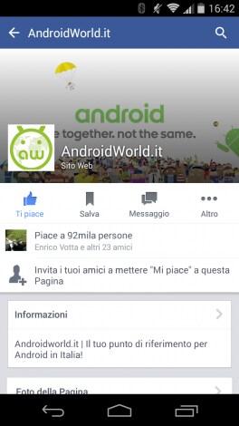facebook beta grafica