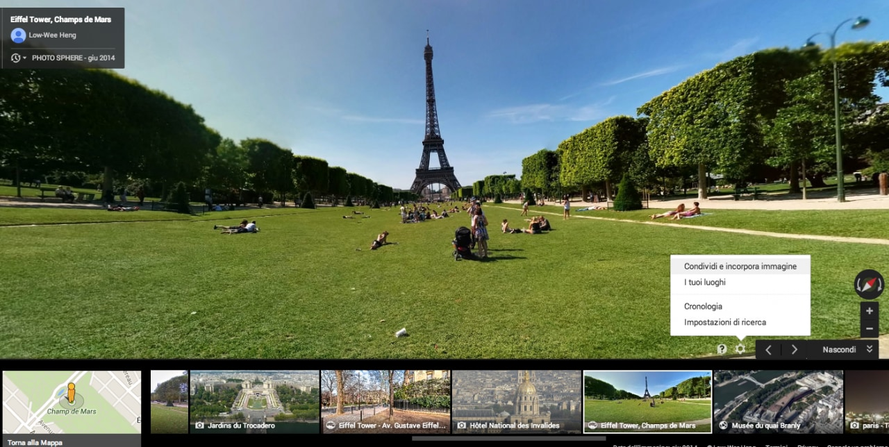 incorporare photo sphere