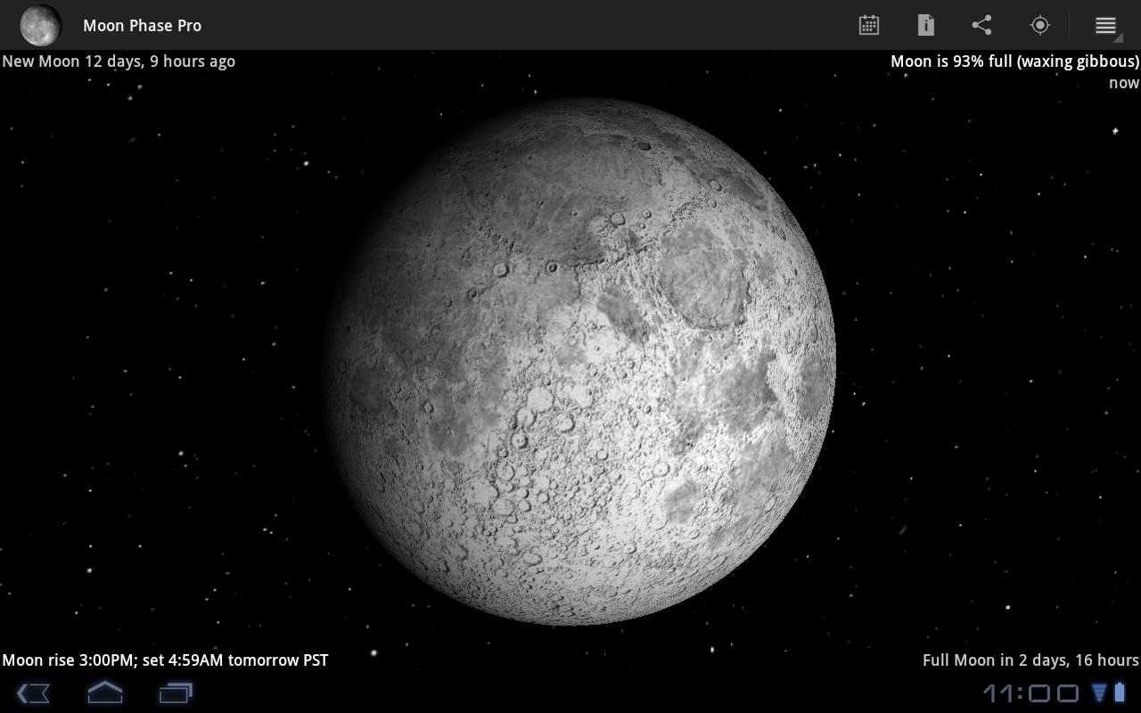 Calendario lunare e sfondo live con l'app Moon Phase Pro (foto)