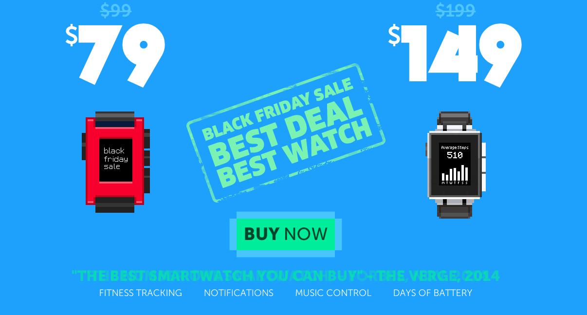 Pebble Smartwatch scontato per il Black Friday