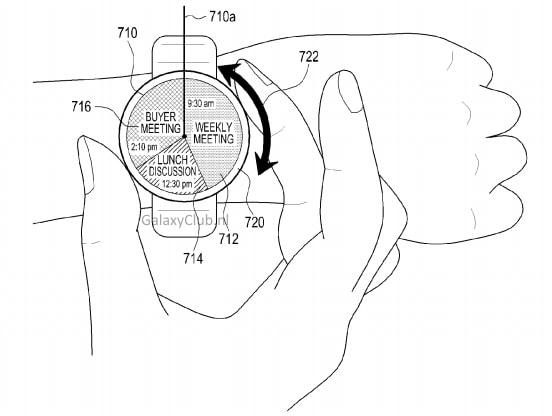 Un vecchio brevetto di Samsung svela uno smartwatch con controlli sulla ghiera