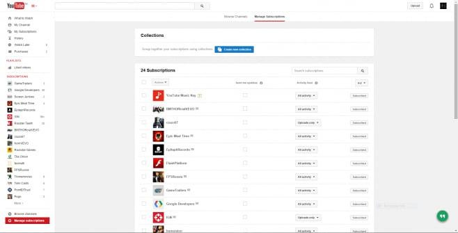 youtube music key web