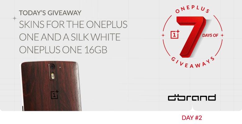 7 giorni di regali da OnePlus #2: 100 dbrand skin e 1 OnePlus One