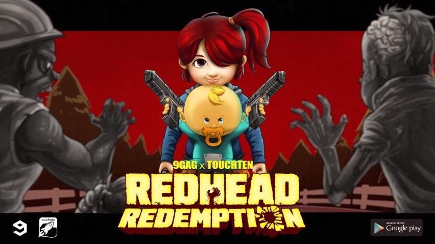 9GAG Redhead Redemption Copertina
