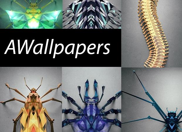 AWallpapers: 37 sfondi di insetti poligonali per il vostro smartphone