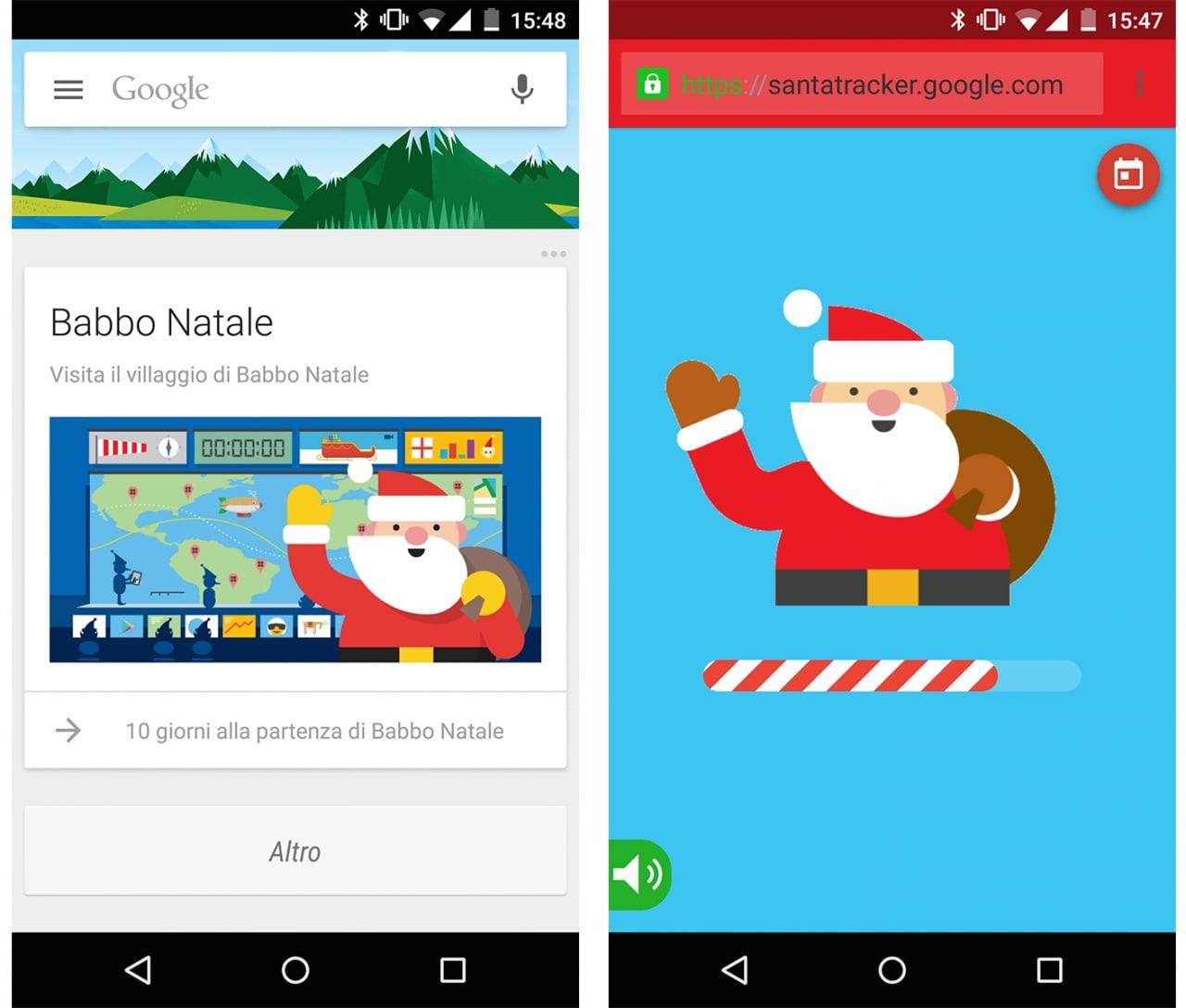 Babbo Natale Google Now