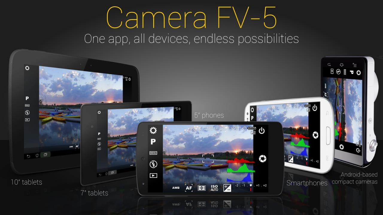 Camera FV-5 si aggiorna con le nuove API di Lollipop per Nexus 5 e Nexus 6
