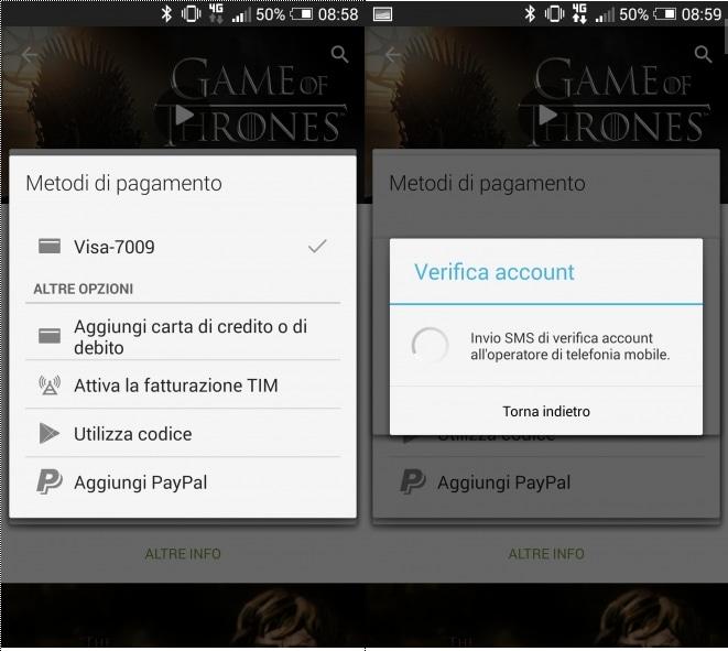 Play Store: adesso è possibile pagare anche con credito TIM