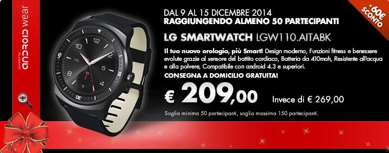 LG G Watch R scontato di 60€ col gruppo d'acquisto di Coop Online