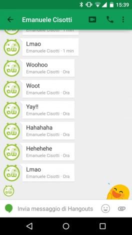 Hangouts emoji easter egg 1