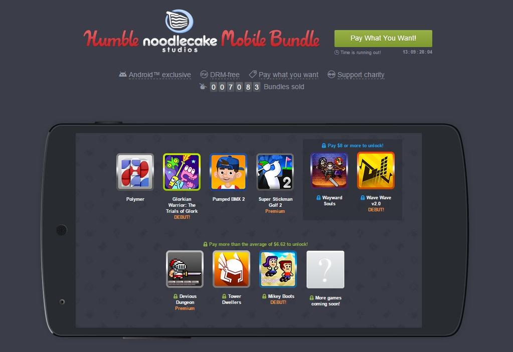 Disponibile il nuovo Humble Noodlecake Studios Mobile Bundle con ben 9 giochi (video)