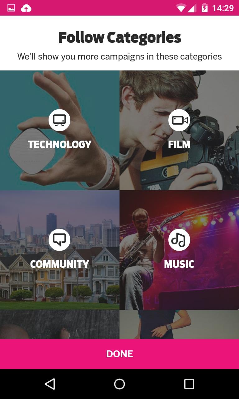 Indiegogo arriva su Android con l'app ufficiale (foto)