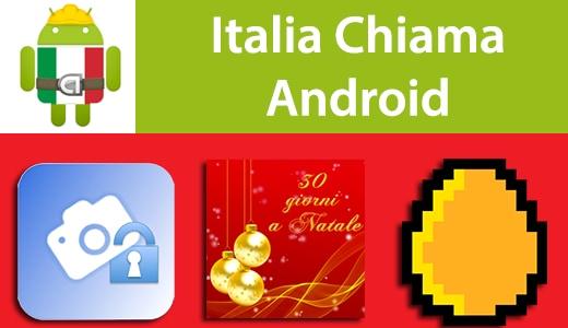 Italia Chiama Android: Private Selfie, Natale Sfondo Animato, Golden Eggs