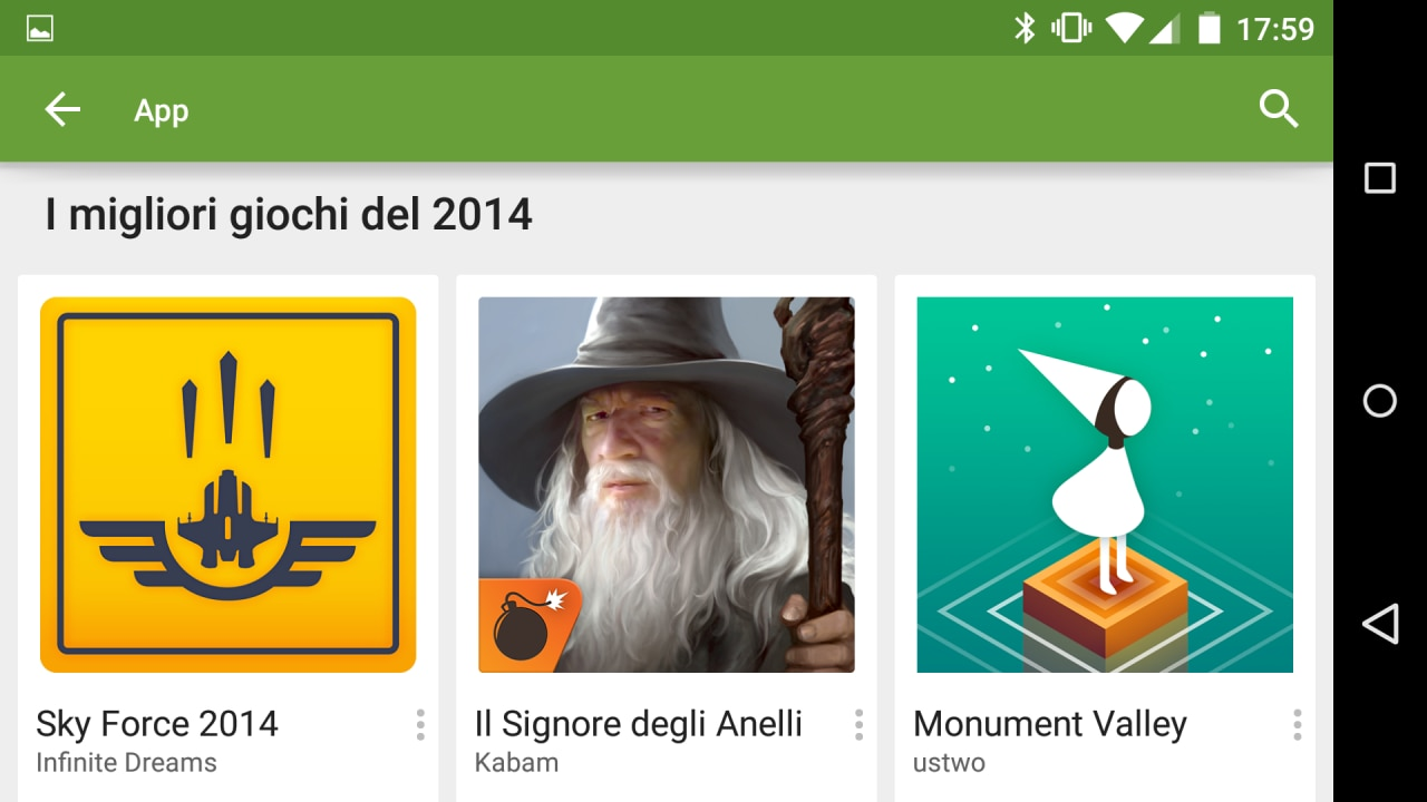 Ecco la selezione dei migliori giochi per Android del 2014 secondo Google
