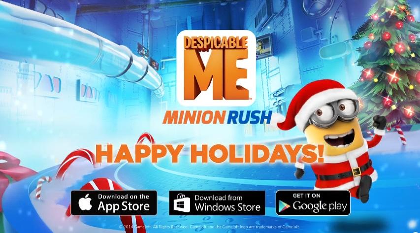 Un aggiornamento a tema natalizio in arrivo su Despicable Me: Minion Rush (video)