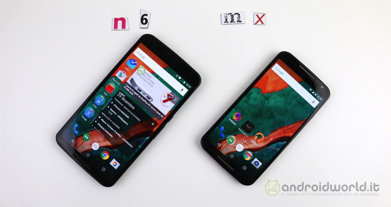 Motorola Nexus 6 vs Moto X (2014): il nostro confronto (foto e video)