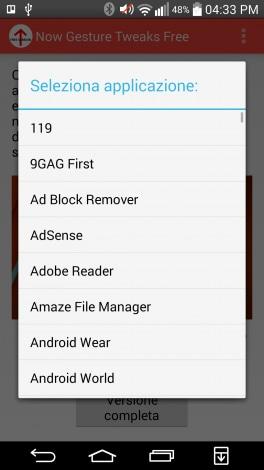 Now Gesture Tweaks_scorciatoia google now personalizzata_8