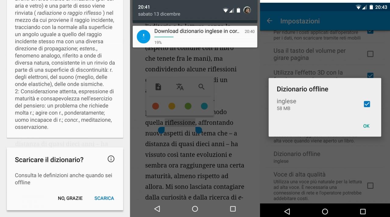 Google Play Libri ha ora anche un dizionario offline, ma solo in inglese (download apk)
