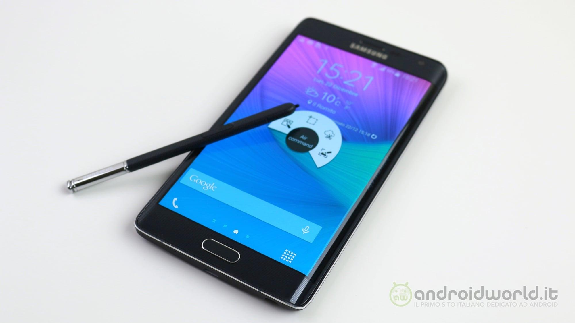 Recensione Samsung Galaxy Note Edge 12
