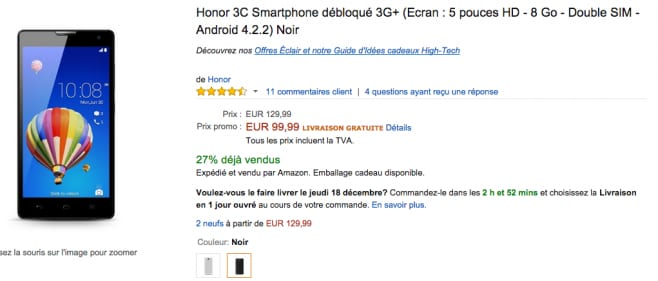 honor 3c amazon francia
