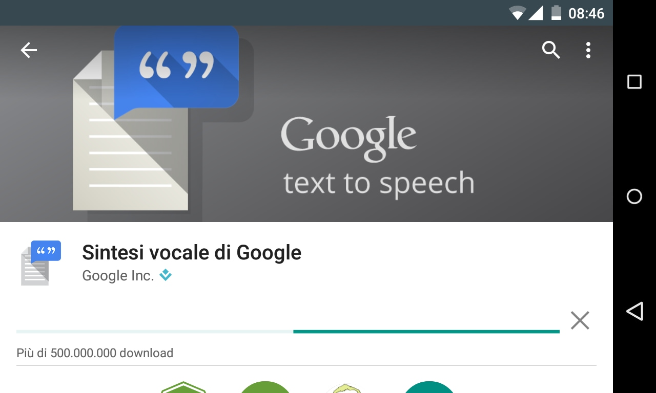 Sintesi vocale di Google
