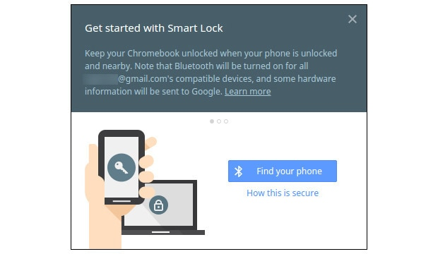 Smart Lock Chrome OS - 1