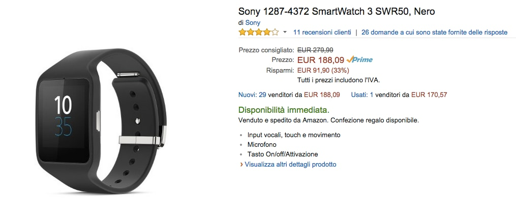 Sony Smartwatch 3 Amazon