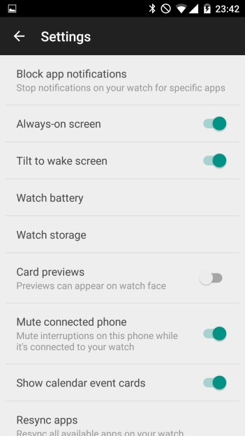Tilt to wake screen Android Wear