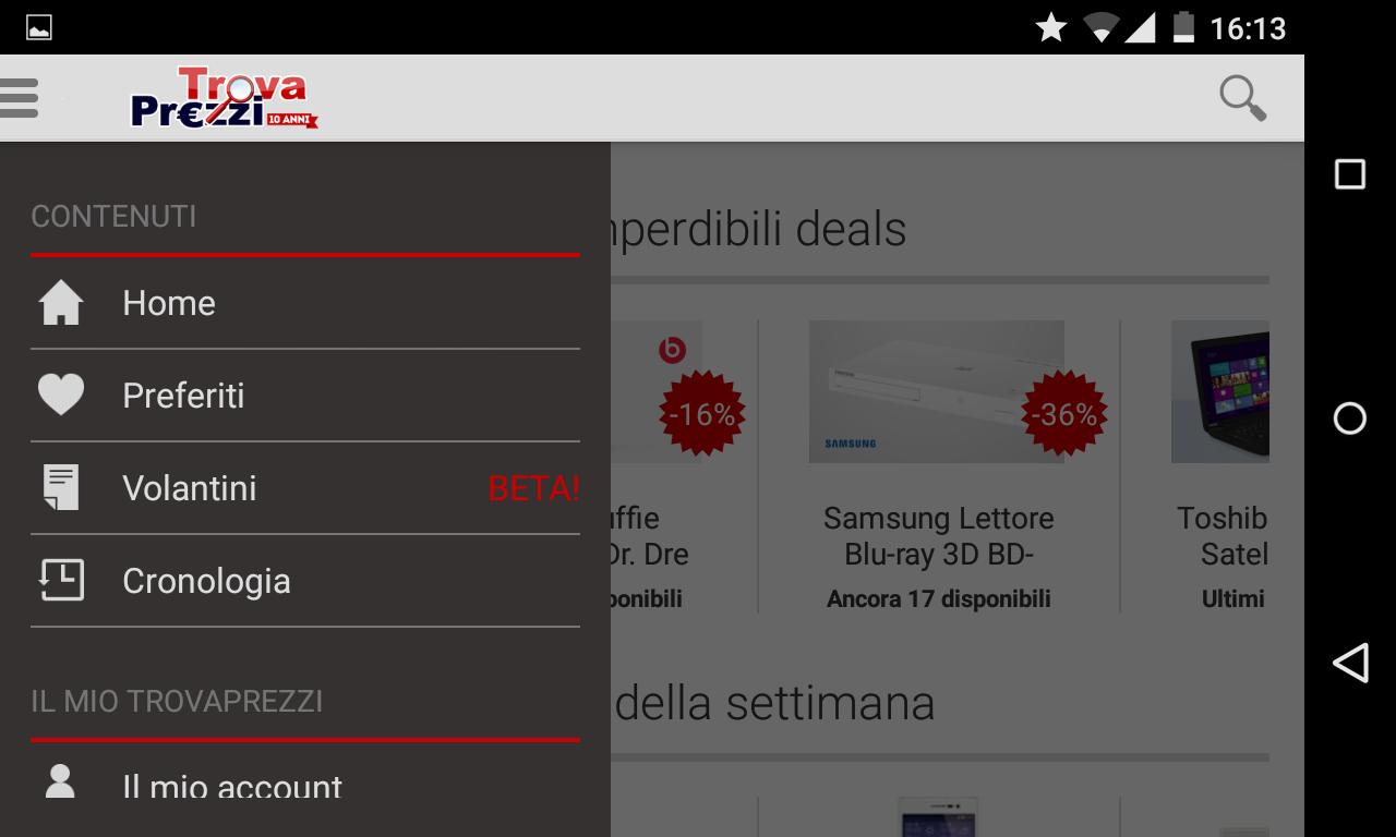 TrovaPrezzi per Android si aggiorna con i volantini delle principali catene, con confronto dei prezzi online