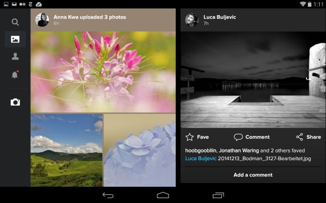 Flickr diventa molto più elegante sui tablet Android