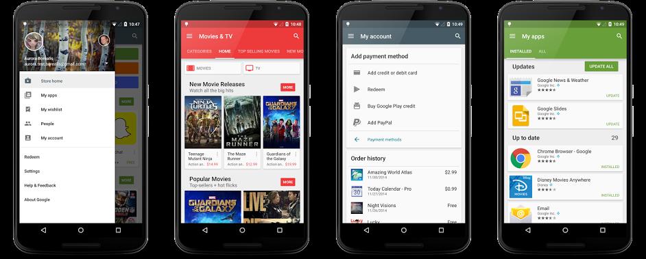 Google Play 5.1.11 ci permette di vedere tutti i nostri acquisti (download apk)