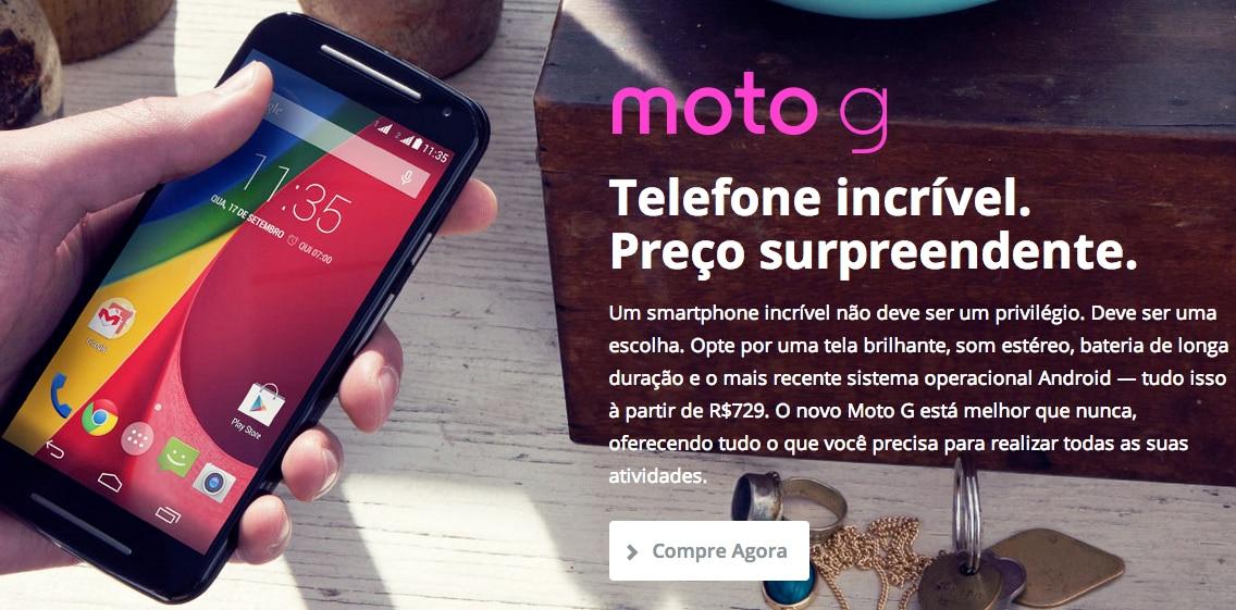 Moto G (2014) LTE avvistato in Brasile, anche con batteria e memoria interna maggiorate