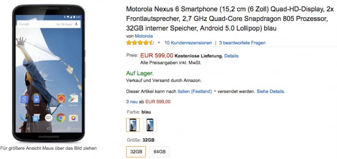nexus 6 germania