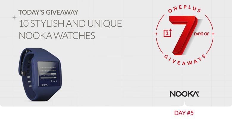 7 giorni di regali da OnePlus #5: 10 orologi Nooka