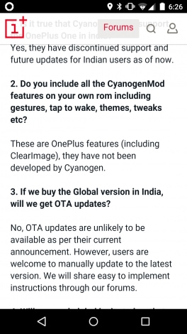 oneplus vs cyanogen