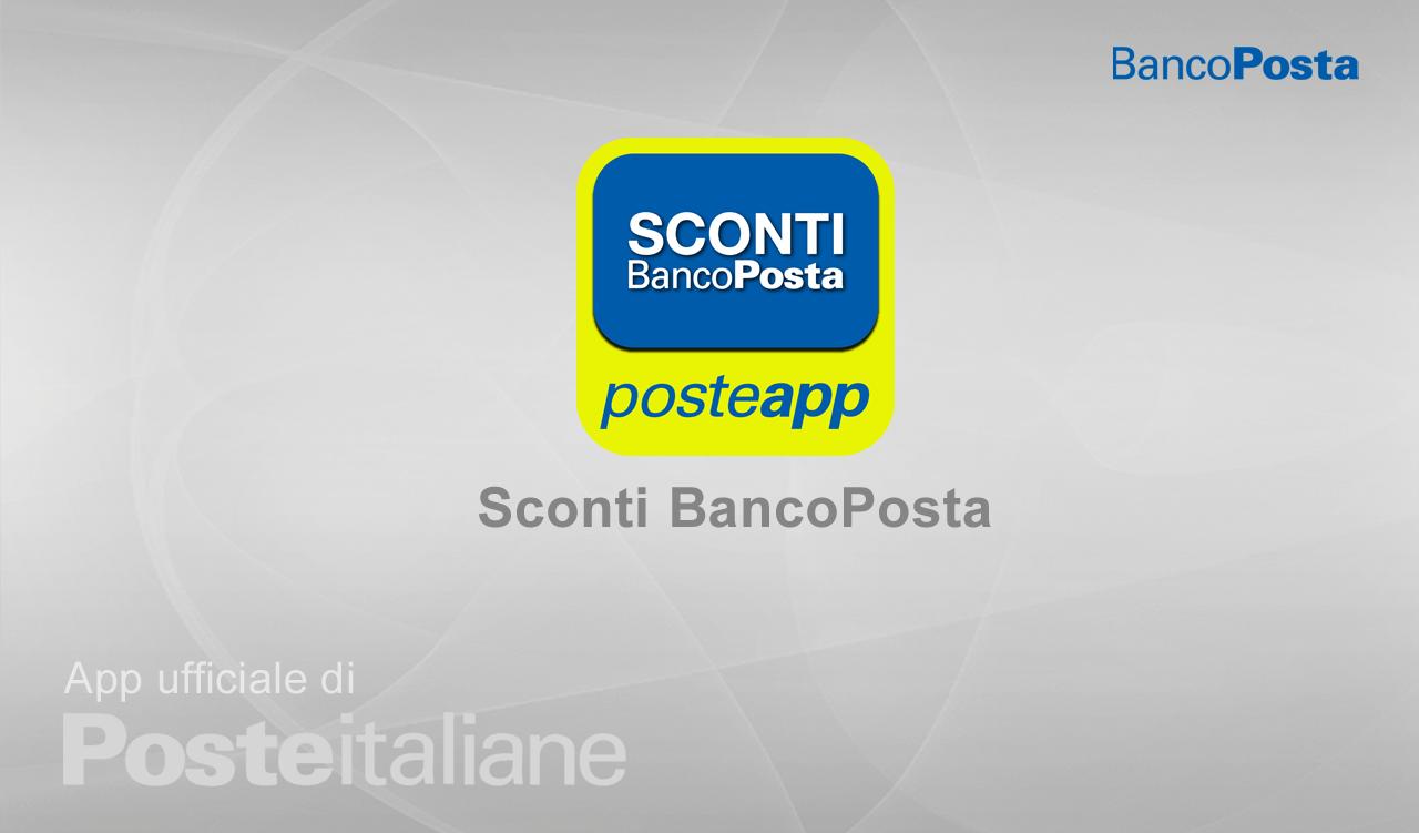 sconti bancoposta_app sconti clienti poste italiane