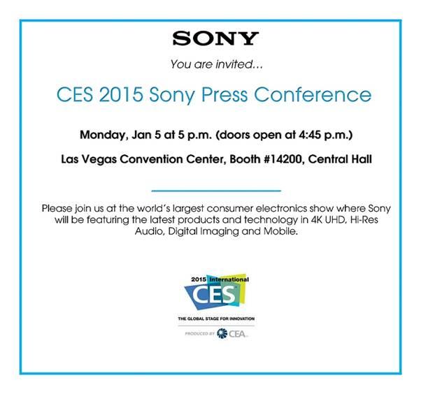 Sony fissa una conferenza stampa il 5 gennaio al CES 2015