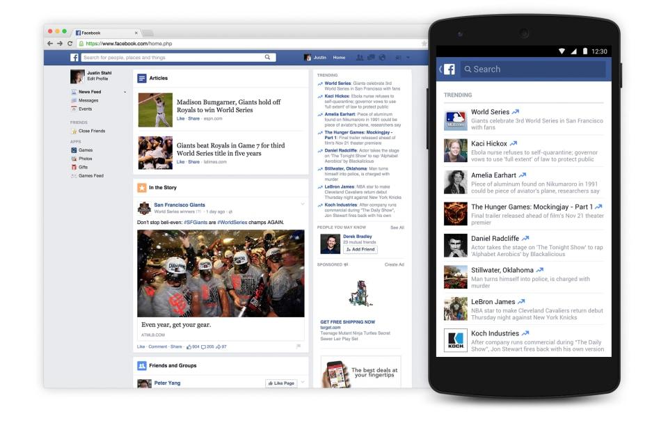 Facebook aggiunge gli argomenti di tendenza su Android negli Stati Uniti (video)
