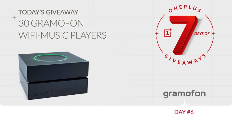 wi-fi music player oneplus giveaway