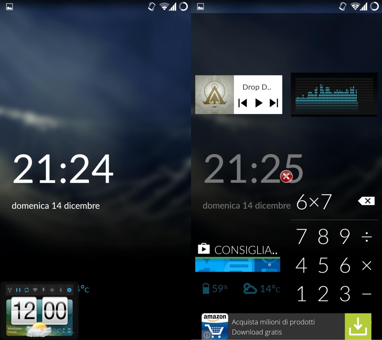 I vostri widget preferiti a portata di mano sul lock screen con Widget Pager (foto e video)