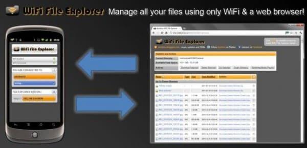 Come trasferire file fra PC e telefono senza usare il cavo USB: WiFi File Explorer (foto)