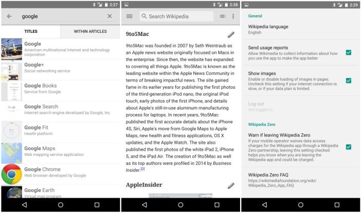 Wikipedia con Material Design è ora disponibile per tutti