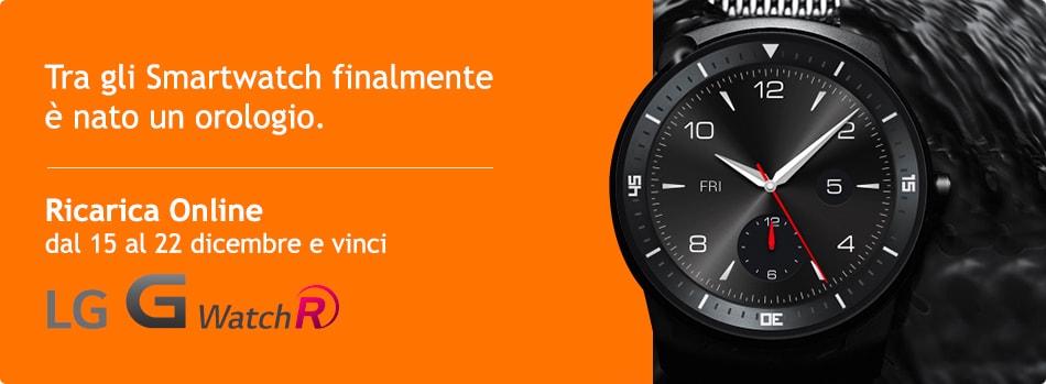 Wind regala un LG G Watch R al giorno per chi ricarica online