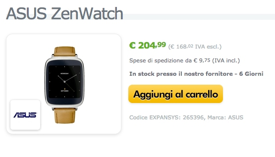 zenwatch expansys