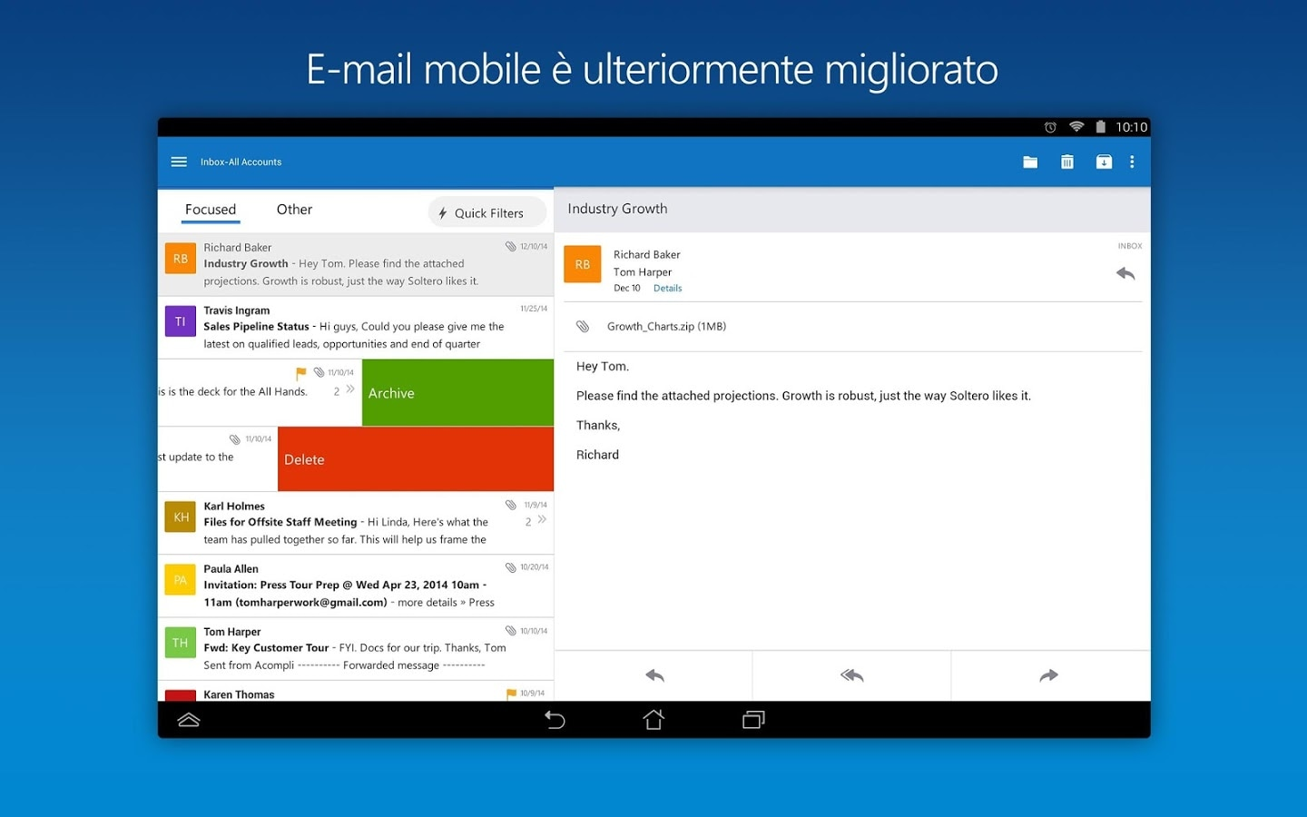 Anteprima Microsoft Outlook per Android – 1