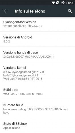CM12 OnePlus One screenshot - 1