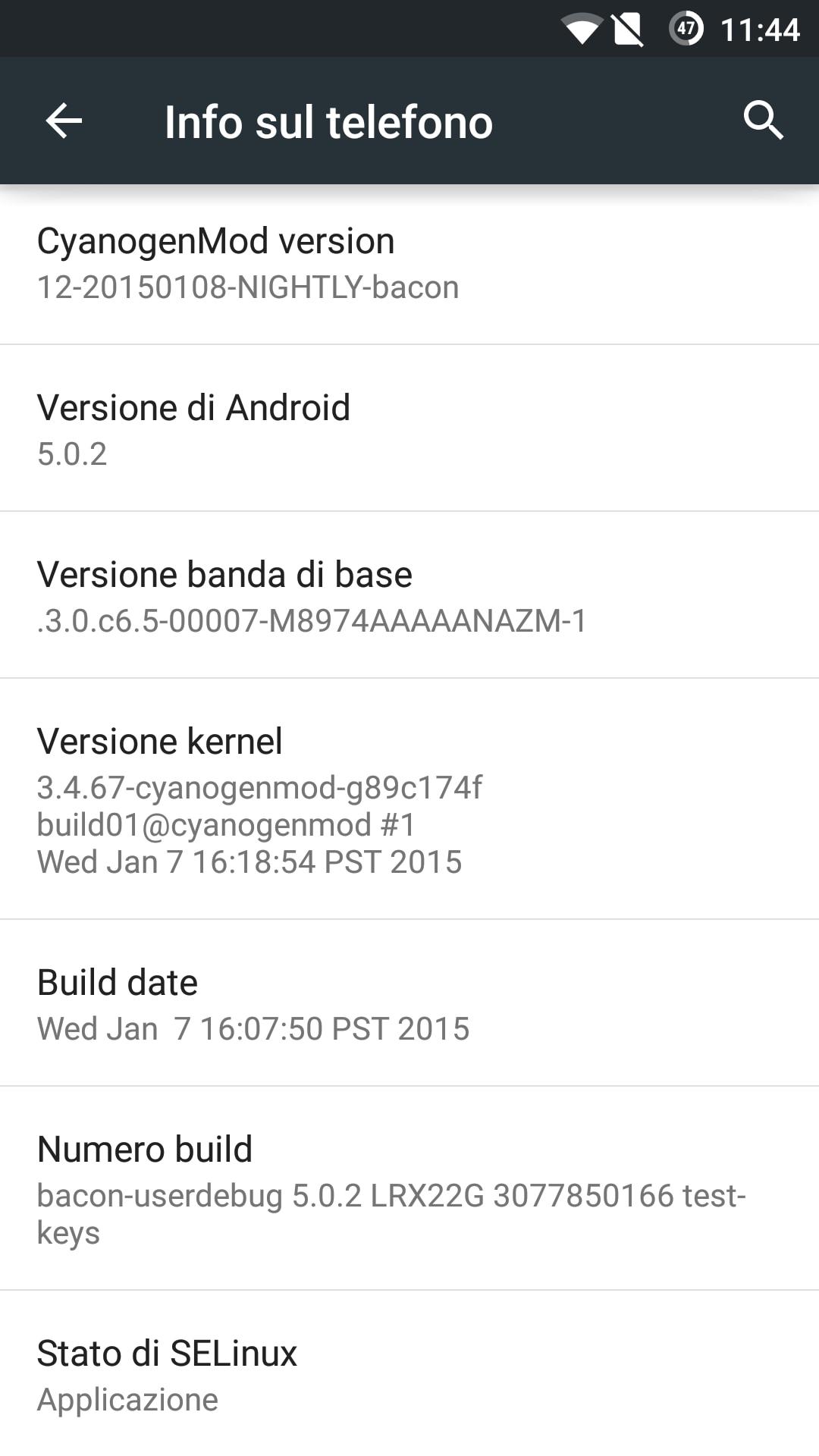 Cyanogenmod 12 Nightly Con Android 5 0 2 Lollipop Prova
