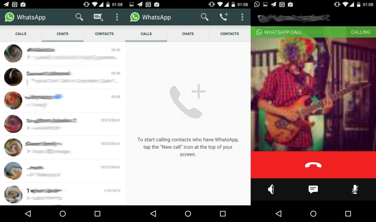 Attivate l'interfaccia delle chiamate vocali di WhatsApp anche senza root