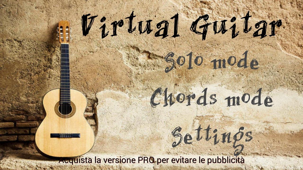 Una chitarra acustica sempre in tasca, con Chitarra Virtuale (foto)